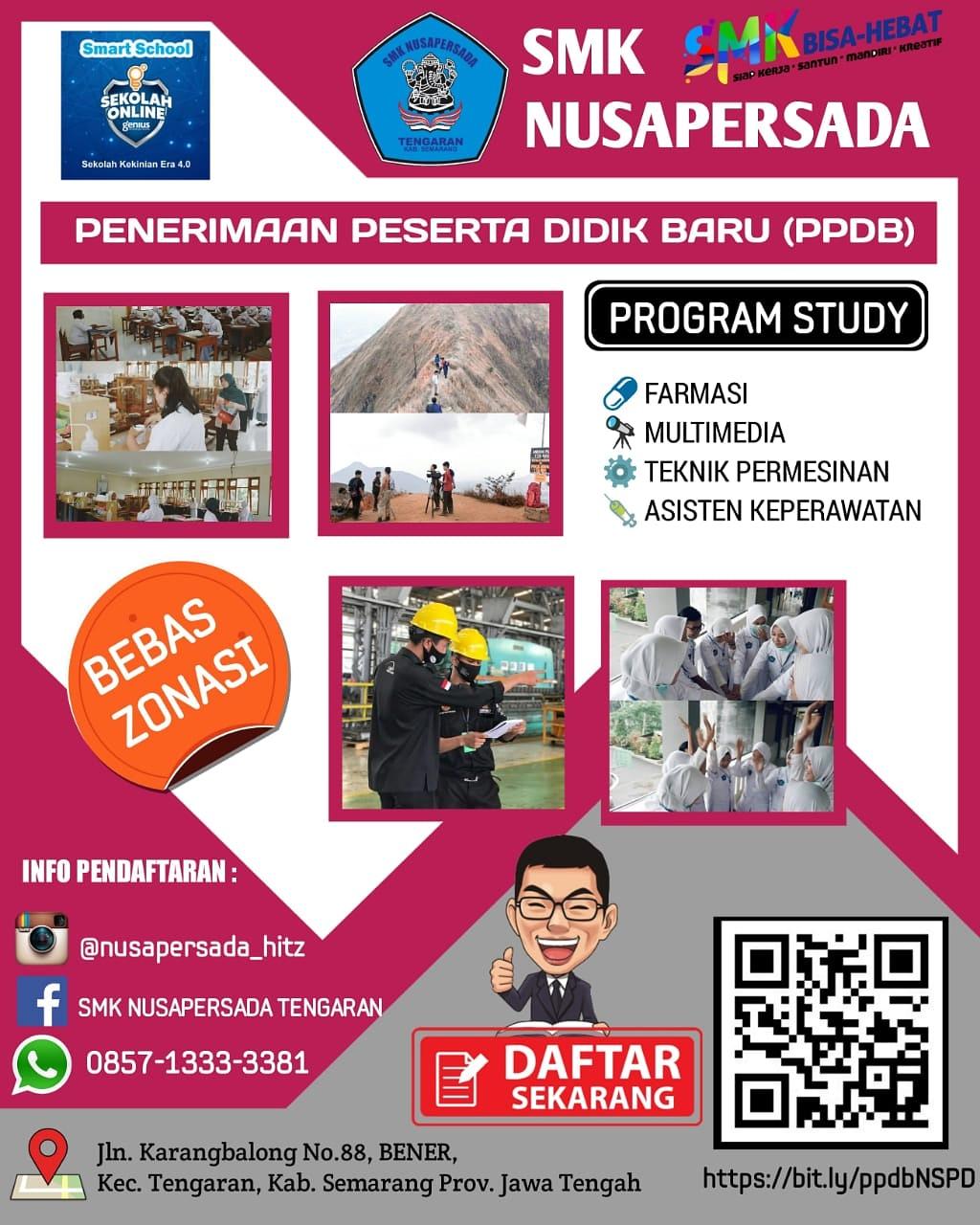 SMK Nusapersada, Presentasi PPDB di SMKN 1 Tuntang