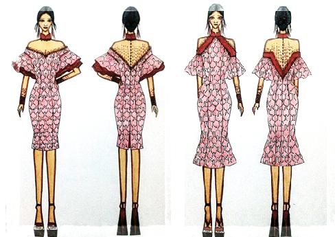 """Teknik Penyajian Gambar """"Fashion Ilustration"""""""