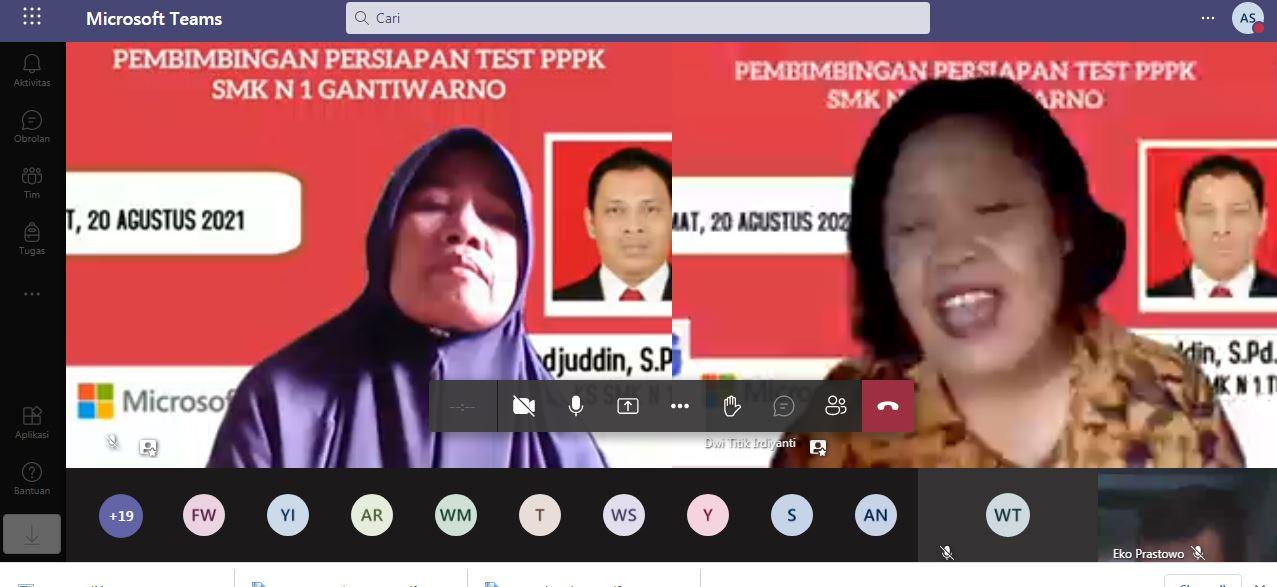 Berharap Lolos ASN PPPK, SMKN 1 Gantiwarno Adakan Pendampingan